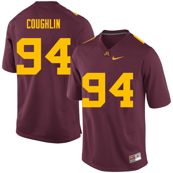 Men #94 Quinn Coughlin Minnesota Golden Gophers College Football Jerseys Sale-Maroon